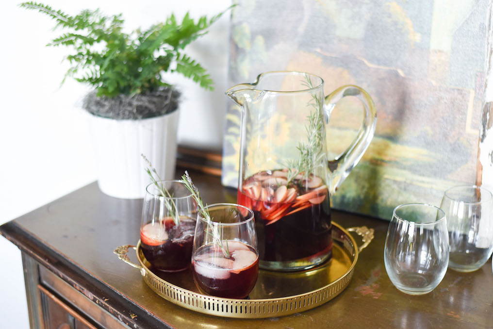 Autumn Sangria with Herbs