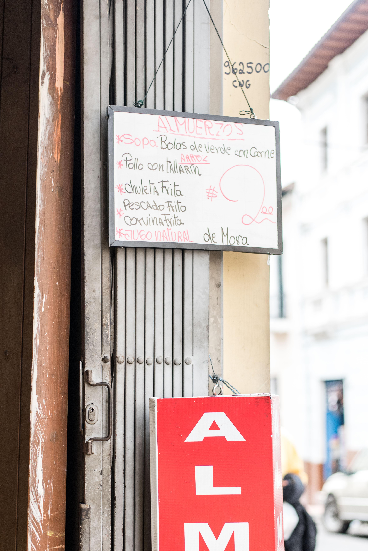 Quito Travel Guide - almuerzo
