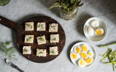 Egg + Asparagus Tea Sandwiches