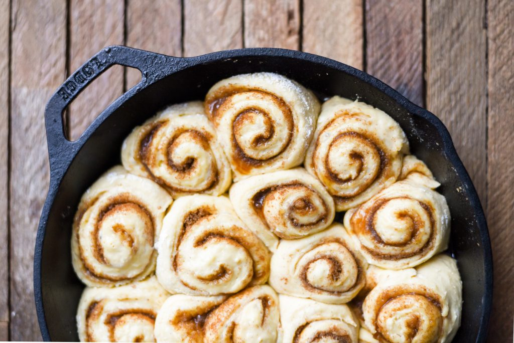 Brioche Cinnamon Rolls with Brown Butter Icing