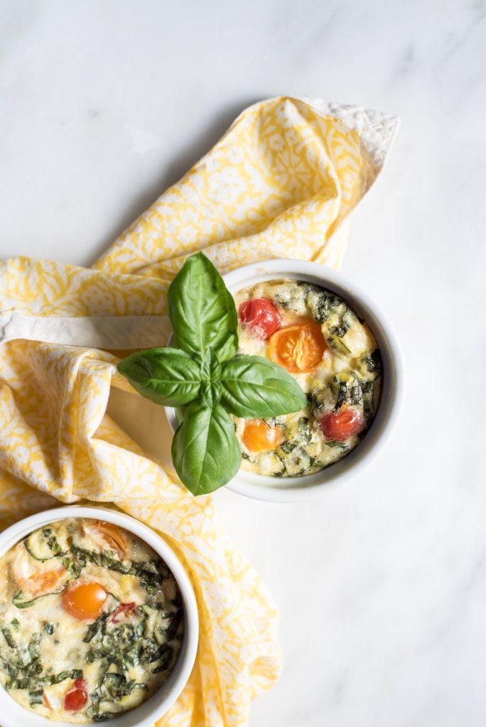 Corn + Tomato Mini Quiche with Bacon