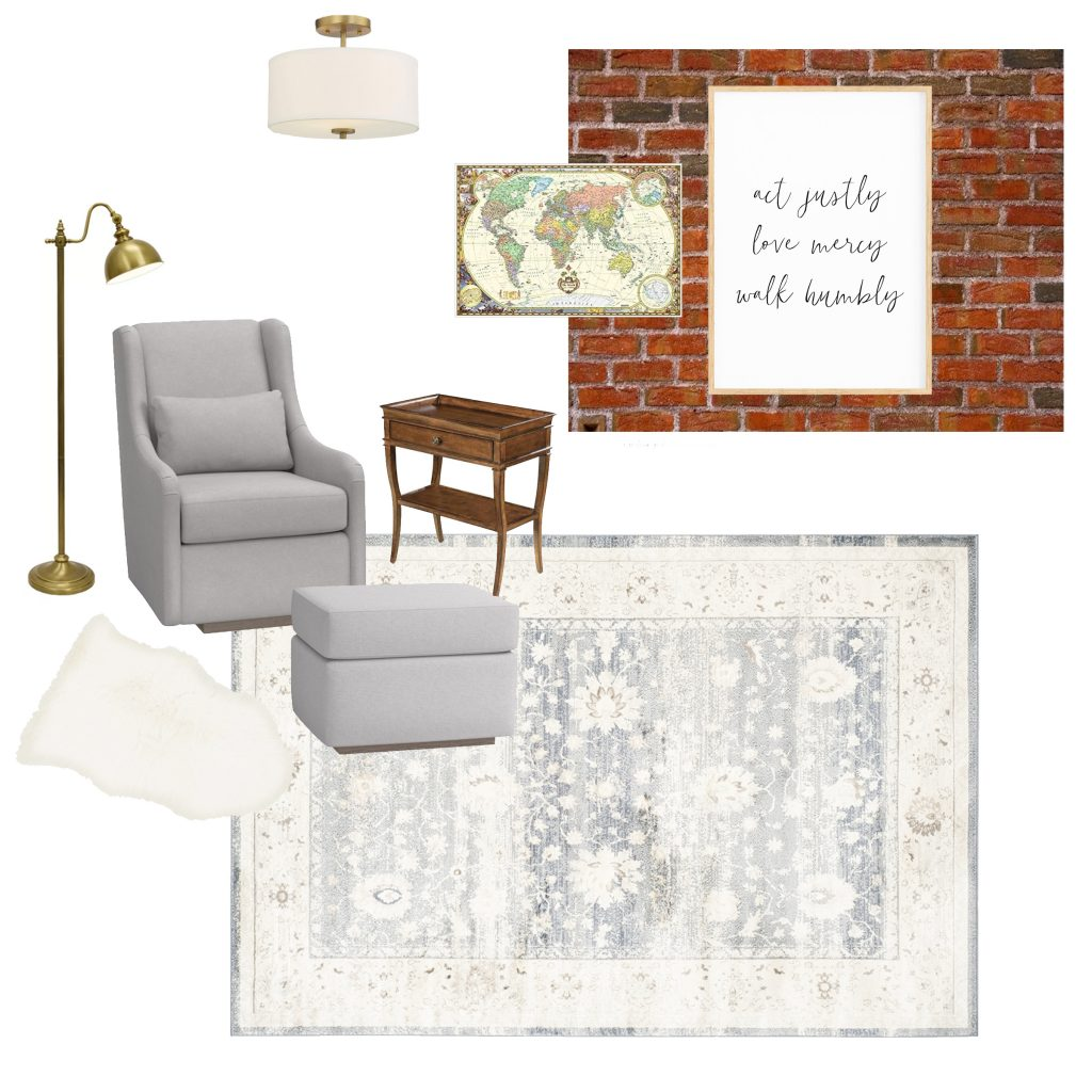 Antique boy's nursery design