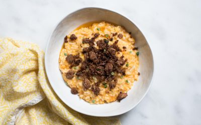 Instant Pot Risotto with Sweet Potato + Lemon