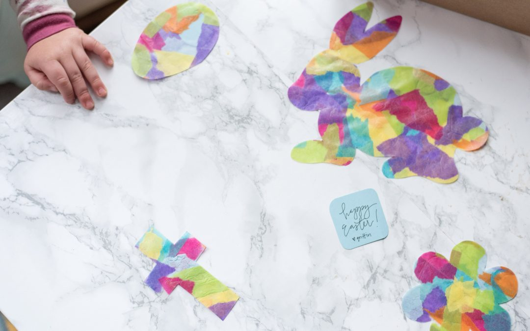 "Easy ""Stained Glass"" Easter Cut-Outs"